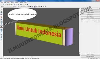 cara membuat gambar 3D dengan xara 3D