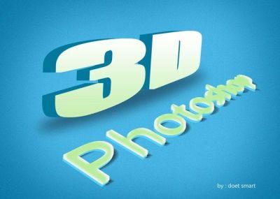Membuat Tulisan 3D Dengan Photoshop